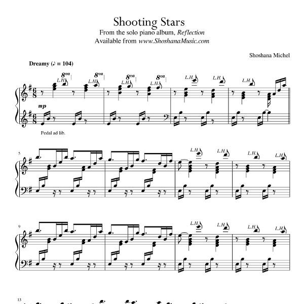Shooting Stars Sheet Music